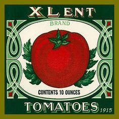 Olde America Antiques | Quilt Blocks | National Parks | Bozeman Montana : Vintage Canning Labels Hot Pads - Xlent Brand Tomatoes