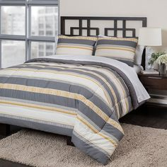 Republic Vertical Stripe Comforter Set