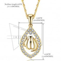 Women Gold Plated Vintage Design Muslim Necklaces&Pendants