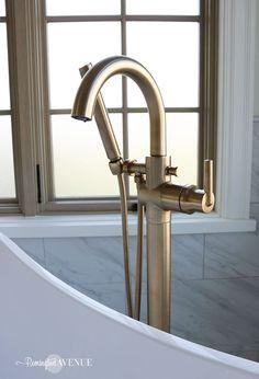 a9db50192cbd ... marble master bathroom with wood lattic inlay ...