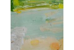 This stunning abstraction features layers of translucent color and overlapping geometric forms. This piece is an original acrylic painting on canvas by artist Susan Ulrich. The work is signed on...