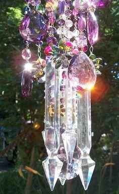 Purple Dreams Crystal Wind Chime