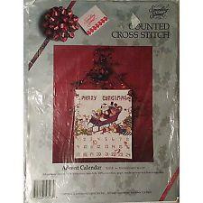 Santa in Sleigh Advent Calendar Counted Cross Stitch Kit Christmas NEW