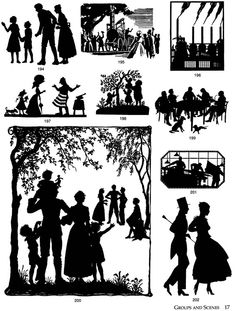 vintage silhouette images from Dover Publications #clip_art