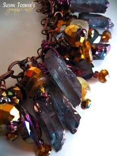Tanzine Aura Quartz Crystal Bracelet