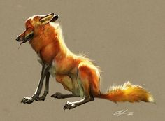 illustration, animal, fox, lighting. Therese Larsson