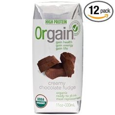 Orgain Creamy Chocolate Fudge, 11-Ounce Container (Pack of 12) --- http://www.amazon.com/Orgain-Creamy-Chocolate-11-Ounce-Container/dp/B003FDG4K4/?tag=urbanga-20