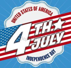 Promotional Design with Reminder Date and Flag for Independence Day, Vector Illustration Promotional Design, Happy 4 Of July, Independence Day, Flag, Dating, Illustration, Diwali, Quotes, 4th Of July Nails