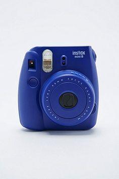 Fujifilm Instax Mini 8 Camera in Indigo - Urban Outfitters Polaroid Instax Mini 8, Instax 8, Fujifilm Instax Mini 8, Fuji Instax, Polaroid Cameras, Fuji Mini 8, Camera Photography, Camera Accessories, Fotografia