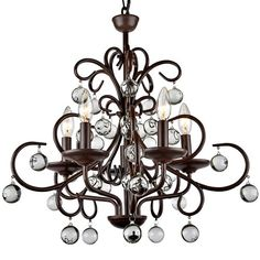 Found it at Wayfair - Wrought Iron 5-Light LED Mini Chandelier