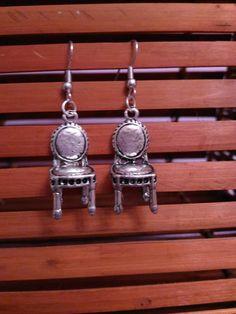 Orecchini pendenti con ciondoli miniatura sedie, by Shop Creativo, 5,00 € su misshobby.com