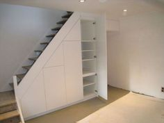 35 Smart Storage Under The Stairs Ideas for Clutter-Free House Basement Stairs ClutterFree House ideas Smart Stairs storage Staircase Storage, Stair Storage, Staircase Design, Stairs With Storage, Attic Stairs, Basement Stairs, House Stairs, Space Under Stairs, Under Stairs Cupboard