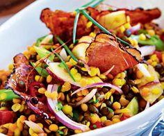Čočkový salát Metroid, Kung Pao Chicken, Ratatouille, Lentils, Salsa, Food And Drink, Beef, Ethnic Recipes, Fitness