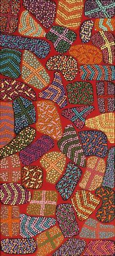 Yarla Jukurrpa (Bush Potato Dreaming) - Cockatoo Creek by Adrianna Nangala Egan
