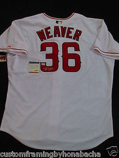 Jered Weaver Signed Angels Authentic Collection Majestic Jersey Auto PSA  V16426 Los Angeles 8958bf3cb