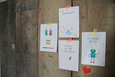 Gezellige ansichtkaarten van Fris Ontwerpen