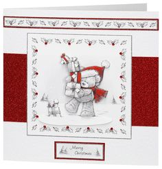 Craft Creations die cut decoupage - DCD548 - Bear with Presents