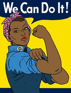 Black Rosie the Riveter Art Print by Nicole Wilson - X-Small Women Rights, Leadership, Art Painting Gallery, Rosie The Riveter, Black Artwork, Afro Art, We Can Do It, Black Women Art, African American Art