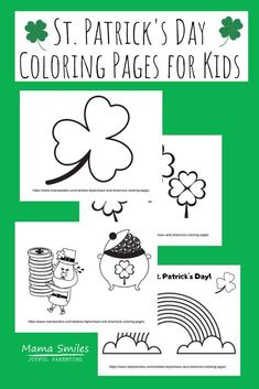 See how creative you can get with these rainbow, leprechaun, and shamrock coloring pages. There's so much more you can do besides simply coloring! #stpatricksday #freeprintables #luckotheirish #kidsactivities Barbie Coloring Pages, Coloring Pages For Kids, Fun Activities For Kids, Easy Crafts For Kids, Happy Mom, Happy Kids, St Patrick's Day Crafts, Kid Crafts, Writing Prompts For Kids