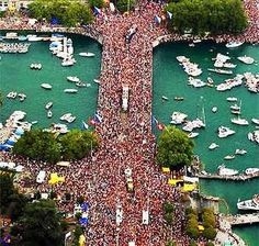 Streetparade Zurich. Crowded Quaibruecke. Switzerland, Trips, The Past, In This Moment, Spaces, City, Amazing, Holiday, Fun
