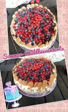 Waldbeertorte Pie, Desserts, Food, Pies, Torte, Tailgate Desserts, Cake, Deserts, Fruit Cakes