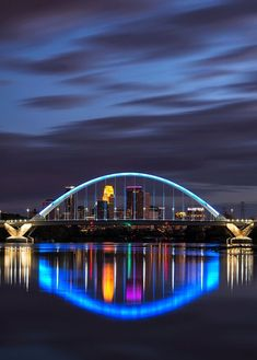 The Lowry Avenue Bridge is a steel tied-arch bridge over the Mississippi River in Minneapolis, Minnesota, completed in October of The American River Cruises, Mississippi River Cruise, Bridges Architecture, Live Oak Trees, Arch Bridge, Bridge Design, Gardens By The Bay, Minneapolis Minnesota, City Lights