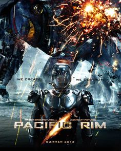 Movie poster inspired on a new film called Pacific Rim: out on 2013.
