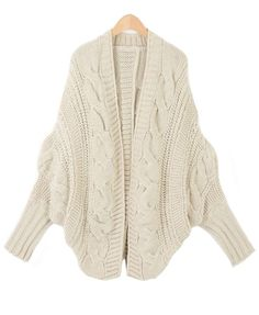 Beige Cable Knit Cardigan- pair with some leggings and boots and I'm good to go!