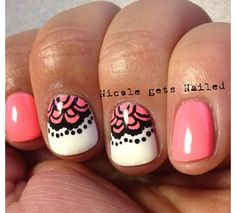 Best Of Lace Nail Stickers. French Acrylic Artificial False Nail Art Tips Fake Get Nails, How To Do Nails, Hair And Nails, Lace Nails, Pink Nails, Nail Polish Art, Nail Art Hacks, Nail Stickers, Up Girl