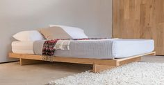 Low Fuji Attic platform wood bed frame by Get Laid beds - The handmade Japanese Fuji Attic bed has a simple, clear design that is perfect for any bedroom.