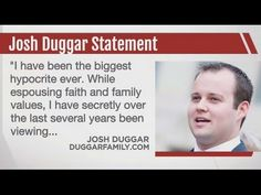 Critics have been calling Josh Duggar a hypocrite ever since news of his sex abuse scandal leaked back in May, and today, Josh actually agreed with them. Josh Duggar, 19 Kids And Counting, Family Values, Christmas Holidays, Families, Anna, Faith, Christmas Vacation, My Family