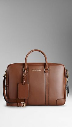 Leather Crossbody Briefcase   Burberry - Someday...