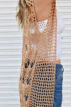Willow Lace Vest Pattern — Two of Wands Crochet Vest Pattern, Crochet Cardigan, Crochet Shawl, Crochet Patterns, Crochet Jacket, Pull Crochet, Crochet Geek, Crochet Top, Crochet Clothes