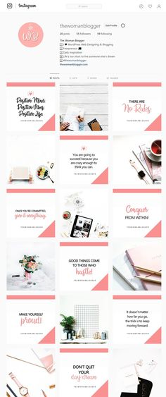 Instagram template. How to theme your instagram. Instagram theme for boss ladies. Instagram Design, Instagram Feed Theme Layout, Instagram Banner, Instagram Grid, Instagram Story Template, Instagram Ladies, Instagram Templates, Web Design, Design Studio