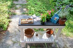 Potting Bench Plans, Outdoor Furniture, Outdoor Decor, Sheds, Gardening, Table, Diy, Home Decor, Shed Houses