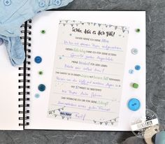 Guestbook Baptism cards with questions to fill out, gift to baptism, advice, wisdoms, wishes for bab Baptism Cards, Baby Baptism, Christening, Babyshower Party, Clothes Clips, Im Online, Wishes For Baby, Welcome Gifts, Baby Time