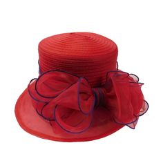 ee46cba1 Organza with Large Bow. Royal Ascot HatsDerby OutfitsRed Hat SocietyFlapper  ...