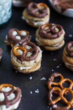 Penut Butter Stuffed Chocolate Covered Pretzel Cookies 'N' Cream