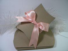 25 Pillow Boxes / Medium Corrugated KRAFT Favor by MorrellDecor, $13.99