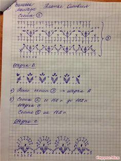 Graficos y Crochet: Falda Vanessa Montoro