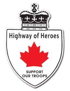 .~The Highway of Heroes - Canada is the only country in the world that repatriates all their fallen soldiers to the same location (Trenton Air Base, Ontario). Since 2002 supporters of Canadian Troops have been lining the route on the overpasses of the highway; flying a flag, saluting and showing support as the procession of vehicles passes on their way to the official coroner's office for the Troops located in Toronto. In 2007 the Macdonald-Carter Highway 401 became the Highway of Heroes~.