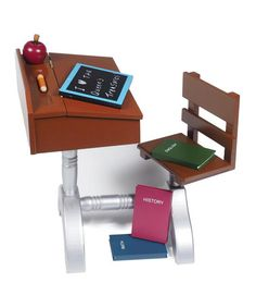 Another great find on #zulily! 1930s-Style School Desk Set for 18'' Doll #zulilyfinds