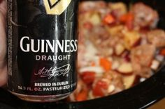 Guinness Beef Stew - Crockpot Style....soooo pumped to make this St.Pat's weekend!!!!