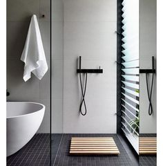 Designing a gazillion bathrooms at the moment and focusing on a minimalistic approach where each piece holds its own while complementing the rest of the space in perfect harmony Get in touch if you need a hand designing your bathroom hello@empireofstyle.com.au #empireofstyle #bathroominspo #minimal #minamalisticbathroom #monochrome #homeinspo #interiordesignerslife