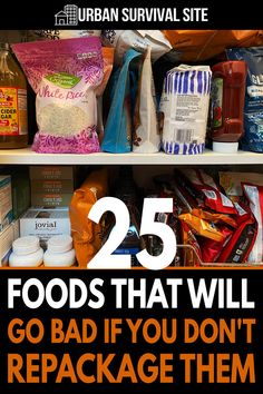 You can't just stick your food in the pantry and forget about it until a disaster strikes. If you do, then when the time comes to eat it, you may find that most of it has gone bad or become infested. Emergency Preparedness Food, Emergency Food Storage, Canned Food Storage, Emergency Preparation, Emergency Supplies, Survival Food, Survival Prepping, Survival Skills, Bad Food
