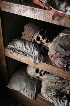 Capuchin's Catacombs in Palermo, Sicily. The first friar was interred in 1599, the last in 1871.