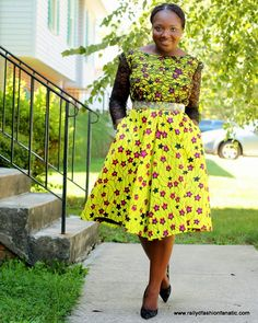The Fashion Fanatic: My DIY: Laced Ankara Starprint Skater Dress...