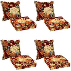 Better Homes and Gardens 8-Piece Deep Seating Cushion Set, Watercolor Floral #BHG@Walmart