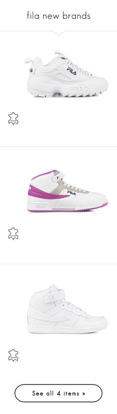 """""""fila new brands"""" by emelie-spangberg ❤ liked on Polyvore featuring shoes, bright white, everyday shoes, womens-fashion, real leather shoes, genuine leather shoes, lace up shoes, leather footwear, leather shoes and sneakers"""
