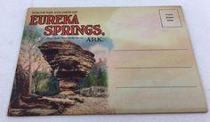 Eureka Springs, Arkansas Souvenir Folder Linen 18 Fold- Out Pictures Unposted  | eBay